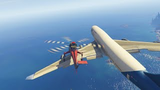 Gta 5 Funny Moments - Most Intense Jumbo Jet Stunts Ever