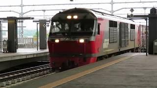 JR旭川駅にて DF200牽引貨物列車の通過