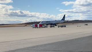 JetBlue E190 Start-Up, Pushback, Taxi And Takeoff From Worcester Regional Airport!
