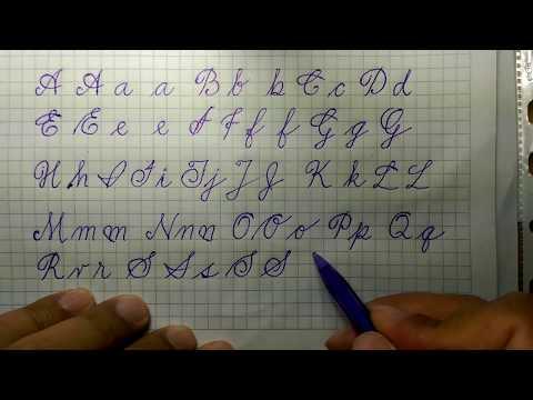 Caligrafía - Letras Del Abecedario - Mayúsculas Y Minúsculas