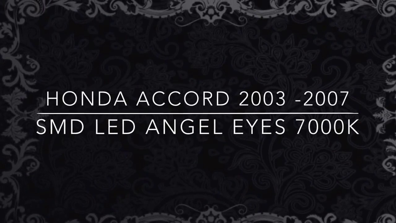 Honda Accord Saloon 2003-2007 Euro Model Smd 7000K Led Angel Eyes Recensione Unboxing Uk - Youtube-8399