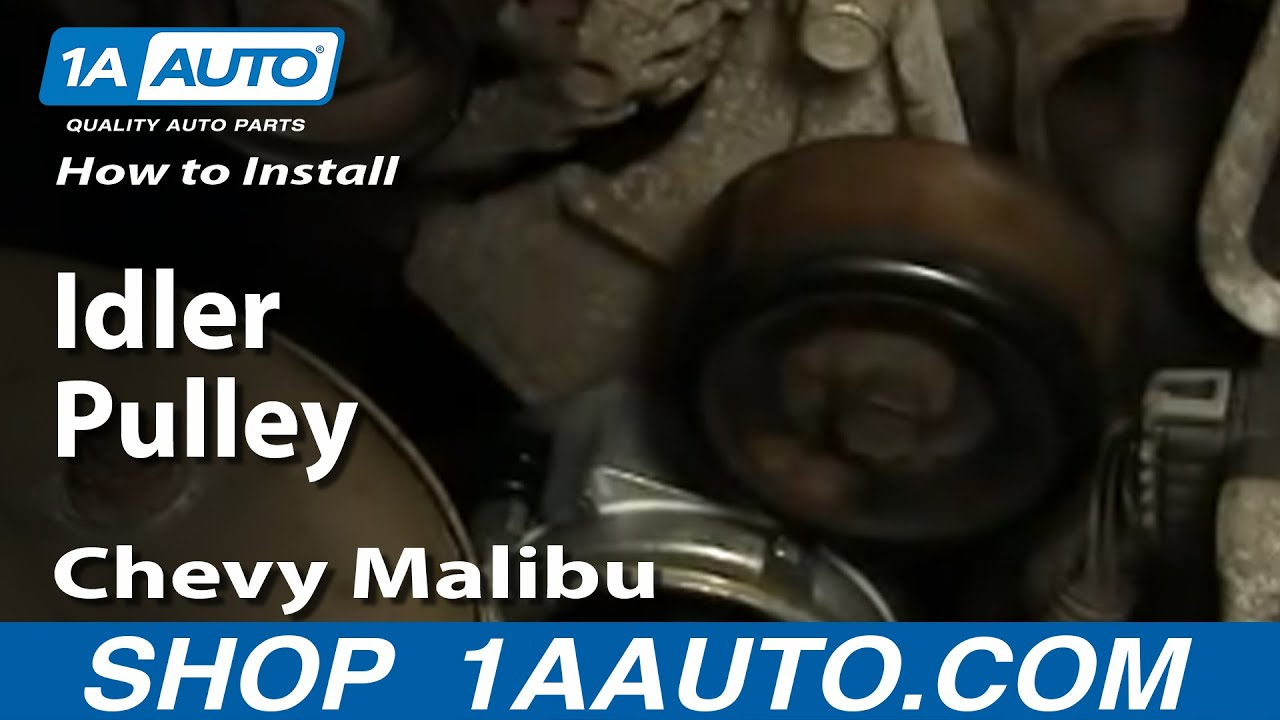 how to replace idler pulley 97 10 chevy malibu youtube how to replace idler pulley 97 10 chevy malibu