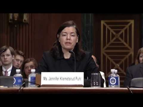 Fargo Native, 8th U.S. Circuit Court of Appeals Nominee Jennifer Puhl Testifies at Senate Hearing
