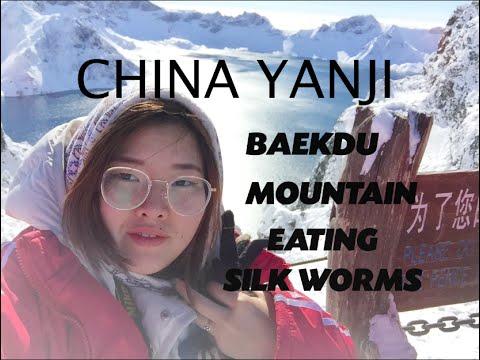 JOURNEYS: YANJI, CHINA Eating Silk Worms, Changbai/Baekdu (백두산) Яньцзи Китай, Гора Пэктусан.