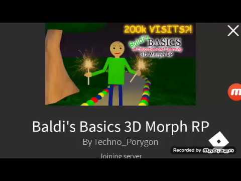Roblox Baldi Rp How To Get Disco Baldi 2019