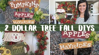 DIY DOLLAR TREE FALL DECOR | 2 SIMPLE AND EASY DOLLAR TREE DIYS | FALL DIYS