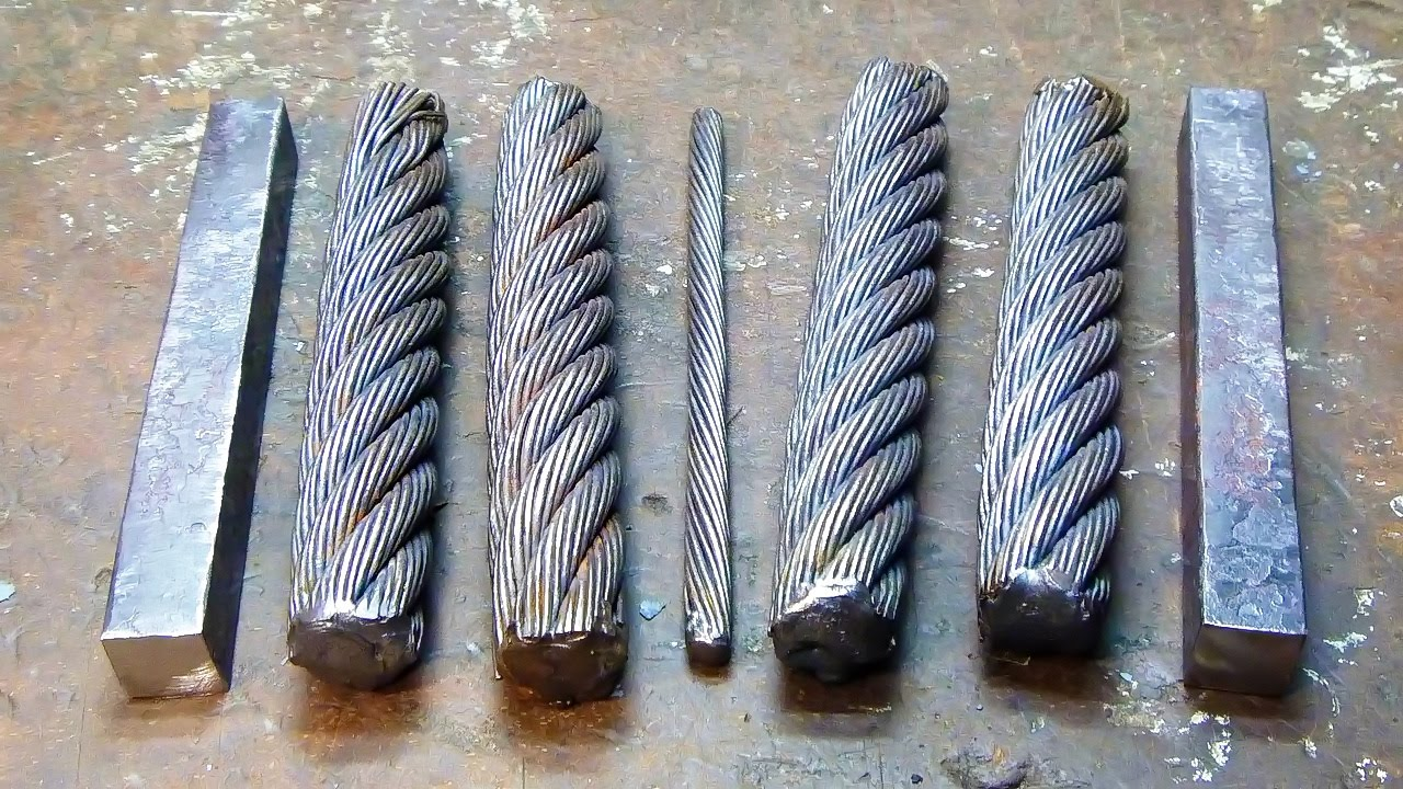 Dagger Blade Damascus Of The Cable Youtube