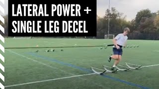 Lacrosse Speed and Agility: Lateral Power w/ Single Leg Decel