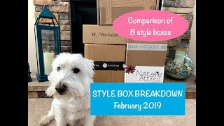 Style Box Breakdown - February 2019:  Let's talk style boxes - comparing 8 subscriptions📦👖📦👚📦👗