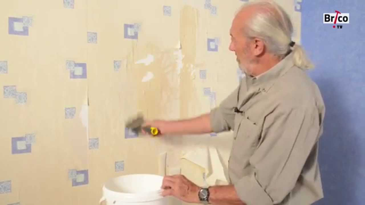dcoller du papier peint bricolage avec robert
