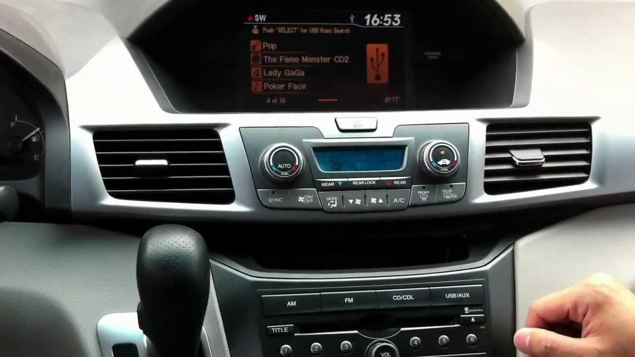 honda odyssey pilot gps integration navigation exexl demo  youtube