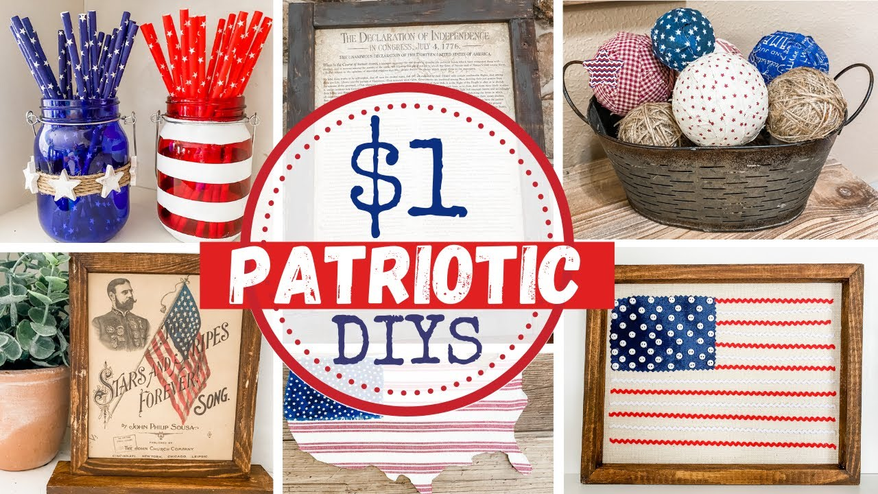 🇺🇸 MUST WATCH $1 BEST PATRIOTIC DIYS  |  TOP 13 Patriotic DIYS
