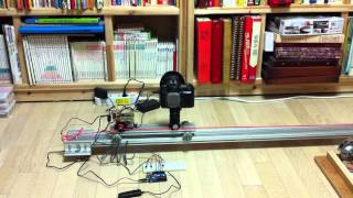 Diy Motorized Dolly For Timelapse, 2nd Test, Arduino Controlled