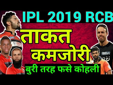 IPL 2019: RCB Strength and Weakness, Royal Challengers Bangalore IPL 2019