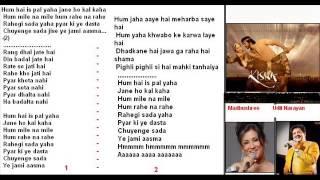 Hum hein her pal yahan ( Kisna ) Free karaoke with lyrics by Hawwa -