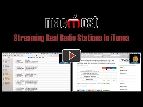 Streaming Real Radio Stations In ITunes (MacMost #1859)