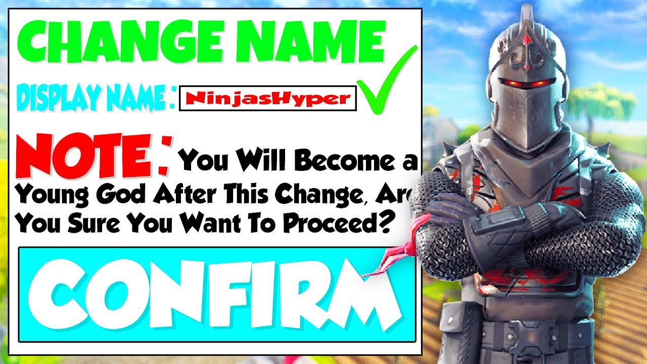 Fortnite : HOW TO CHANGE YOUR NAME! EPIC GAMES NAME CHANGE ...