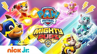 paw patrol mighty pups full episodes - pups save the world - youtube