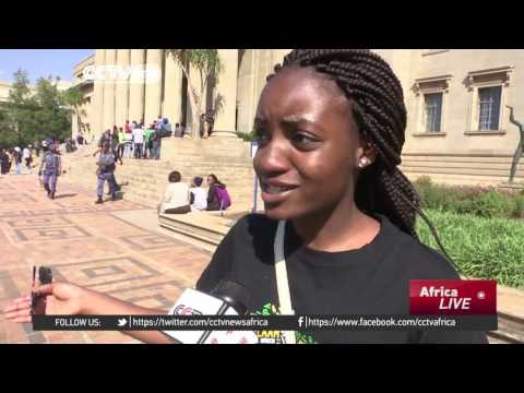 South African students protest government decision to increase fees in 2017
