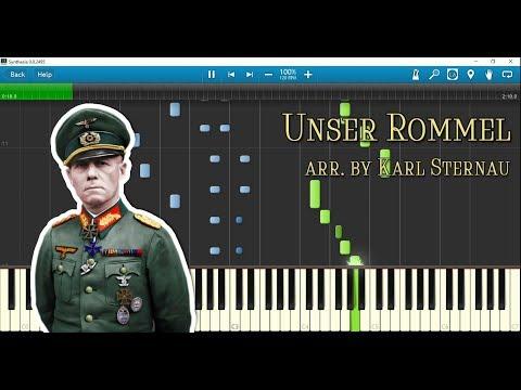 Unser Rommel (piano Arr. By Karl Sternau) W/ Sheet Music