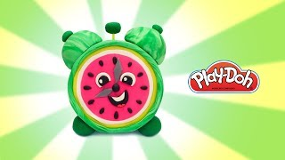 Play Doh Toys. How to Make Funny Watermelon Clock. Learning Videos for Kids. Easy DIY for Kids