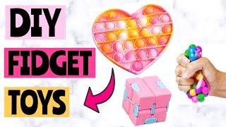 DIY FIDGETS! Pop Iт Fidgets, Infinity Cube | How to make fidget toys! DIY FIDGET TOYS EASY