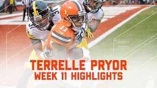 Every Terrelle Pryor Reception | Steelers vs. Browns | NFL Week 11 Player Highlights