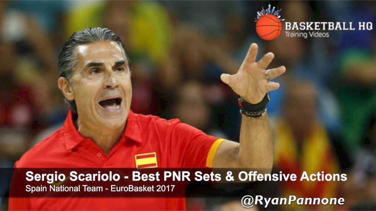 Sergio Scariolo  Spain National Team EuroBasket 2017  Best Pick & Roll Sets