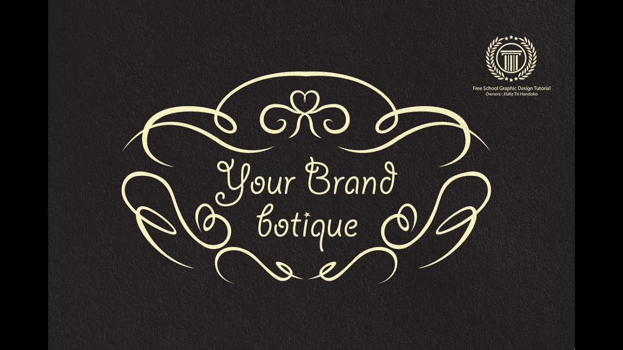 Linecraft Botique Logo Design Tutorial - Adobe illustrator Logo ...