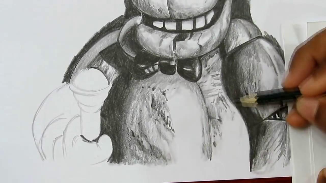 Como Dibujar Five Nights At Freddys Con Lapiz Youtube