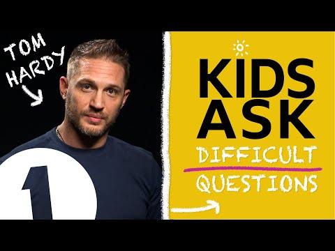 'What's the naughtiest thing you've ever done?':  Kids Ask Tom Hardy Difficult Questions