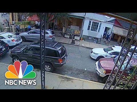 Surveillance Video Shows Philadelphia Police Serving Warrant, Eventual Shootout | NBC News