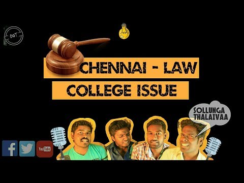 Chennai Law College Issue