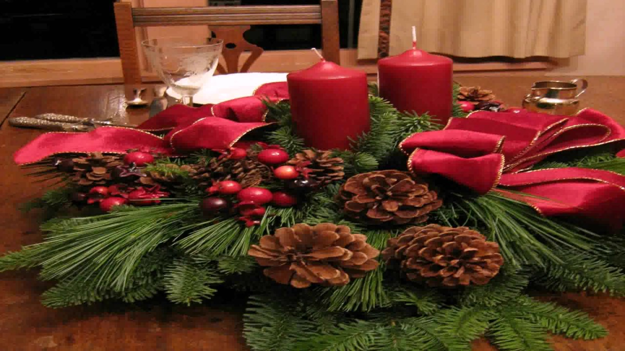 Diy Christmas Table Decorations Ideas Pinterest Youtube