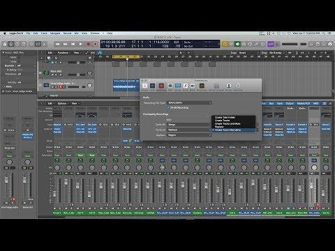 Overlapping Recordings Settings - Logic Pro X
