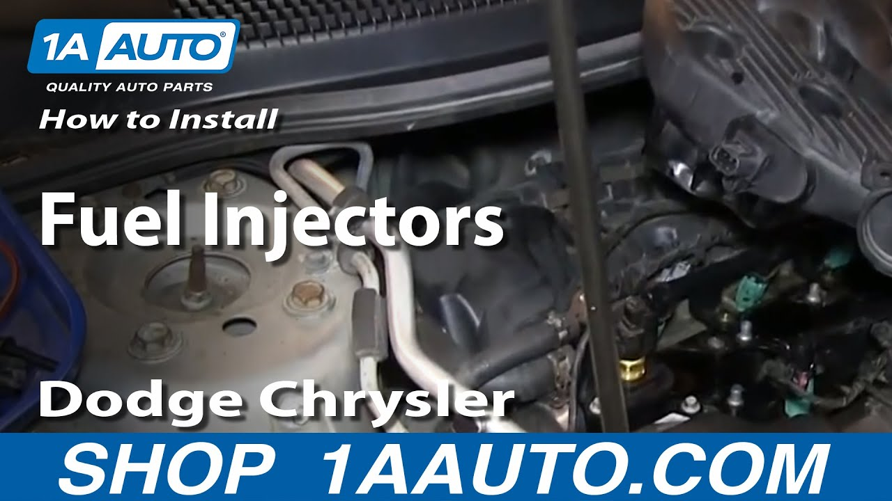 how to install replace fuel injectors 2 7l dodge chrysler v6 2001 06 sebring youtube [ 1920 x 1080 Pixel ]