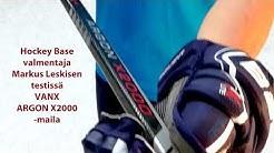 Hockey Base valmentajan testissä Vanx Argon X2000 jääkiekkomaila