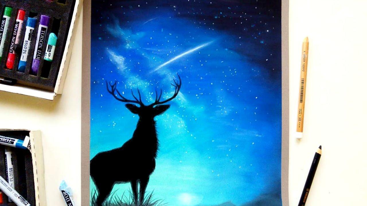Deer Drawing Soft Pastels On Pastelmat Patreon