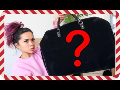 FOUND A BIG MYSTERY BAG IN FRONT OF MY HOUSE | Vlogmas 15, 2017