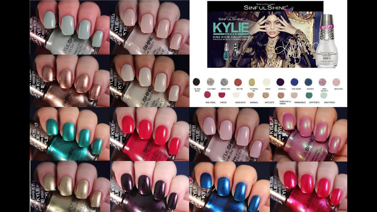 Sinful Colors King Kylie Collection | Live Application Review - YouTube