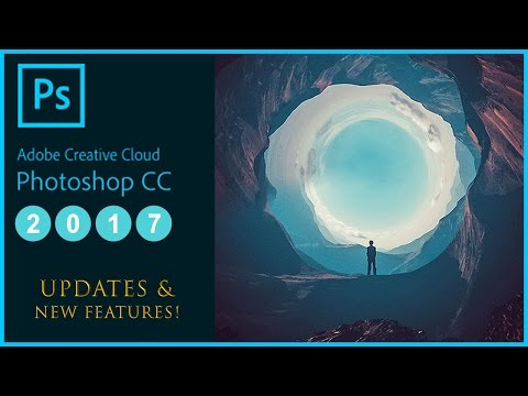 What's New in Adobe Photoshop CC 2017 Update Tutorial - (Features: Search bar, Templates, Emojis)