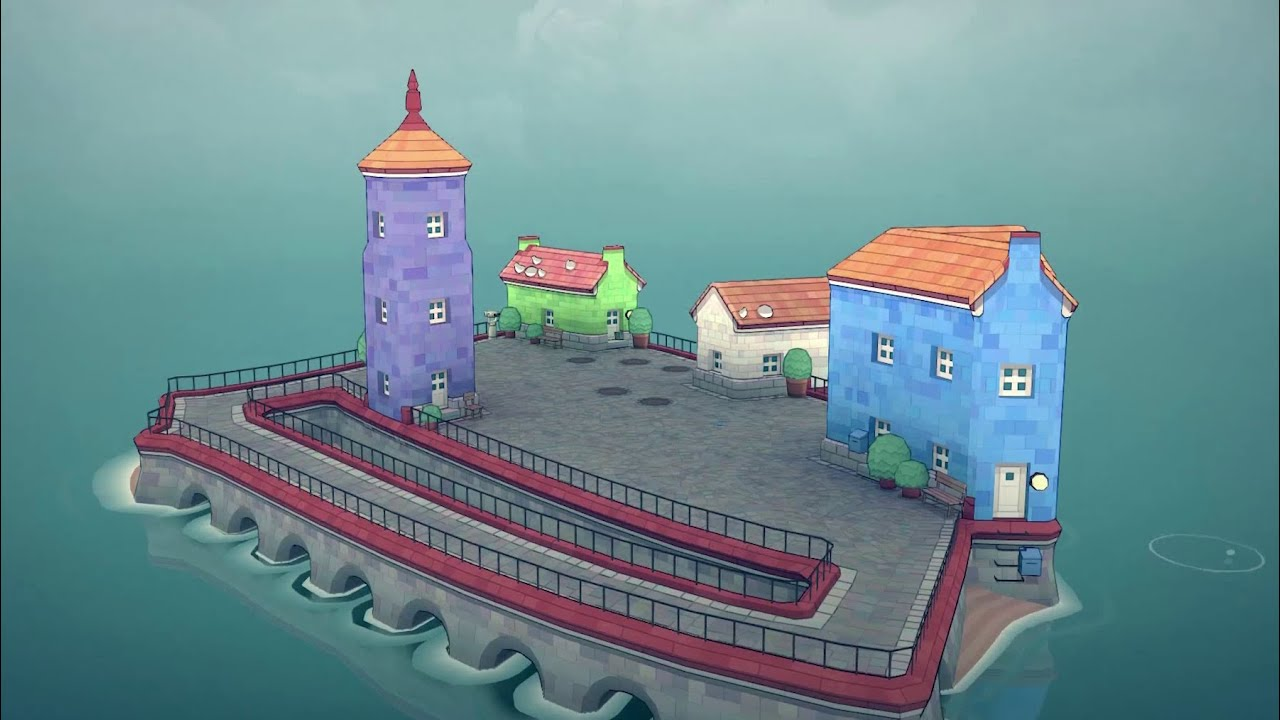 Island House Building Game for Kids