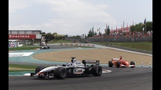Kimi Raikkonen onboard start French GP 2002 ( 3 way fight )