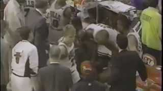Scottie Pippen Refuses To Play The Last 1.8 Seconds Of A Tied Playoff Game.