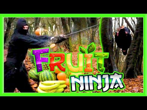 FRUIT NINJA IN REAL LIFE | Slow Motion Sword Slices | GNT Flips & Kicks