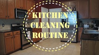 CLEAN WITH ME, KITCHEN CLEANING ROUTINE