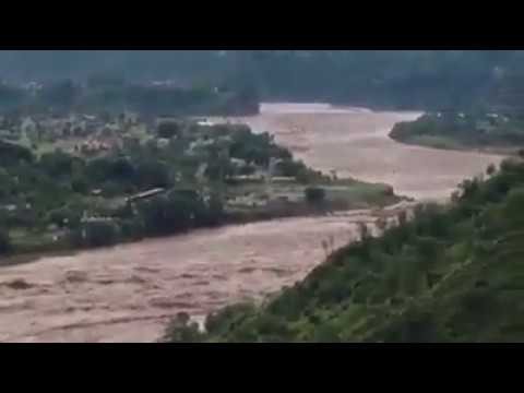 Azad Kashmir Flood 2014 in Poonch River near Kotli Park