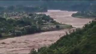 Flash Flood in Poonch River near Kotli Park Azad Kashmir 2014