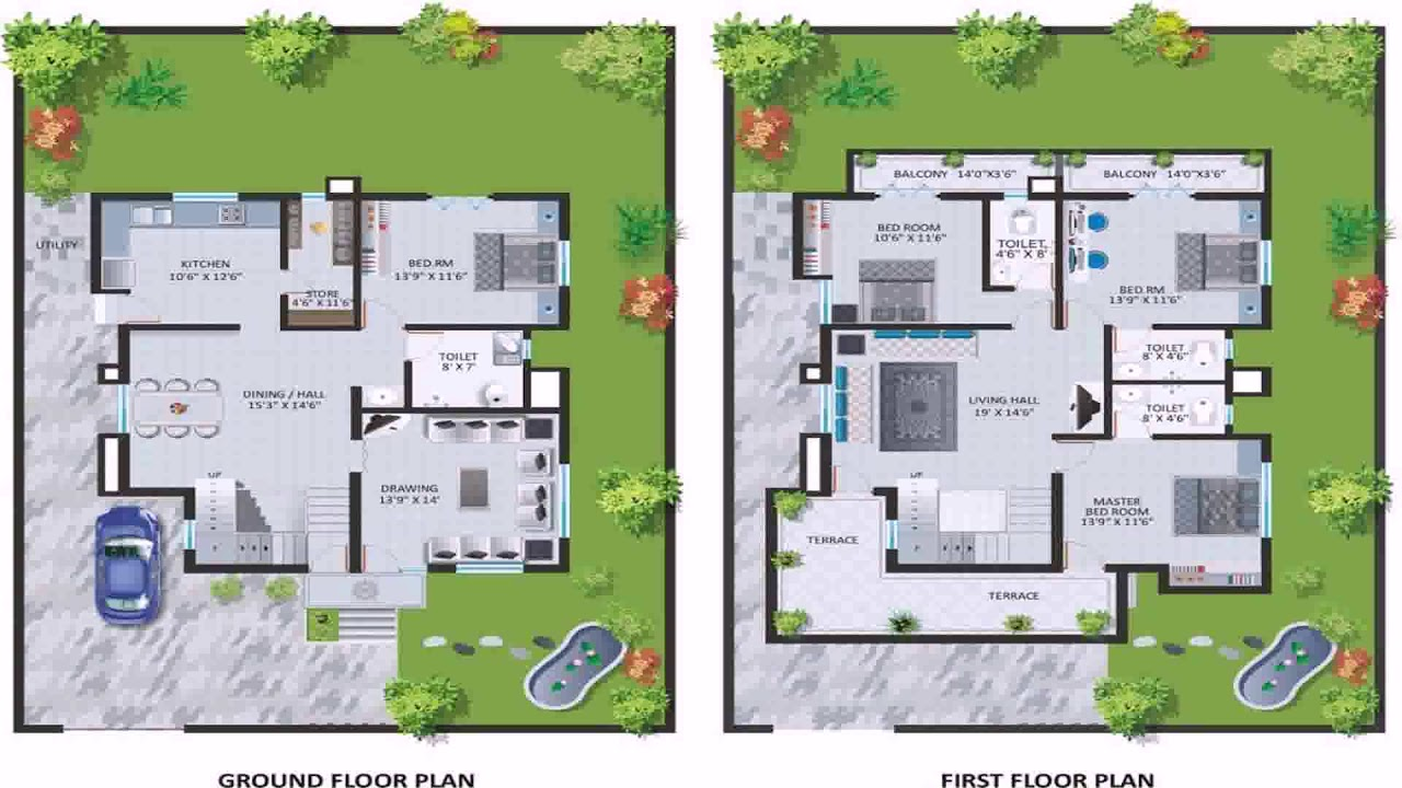 Two Storey House Design With Swimming Pool