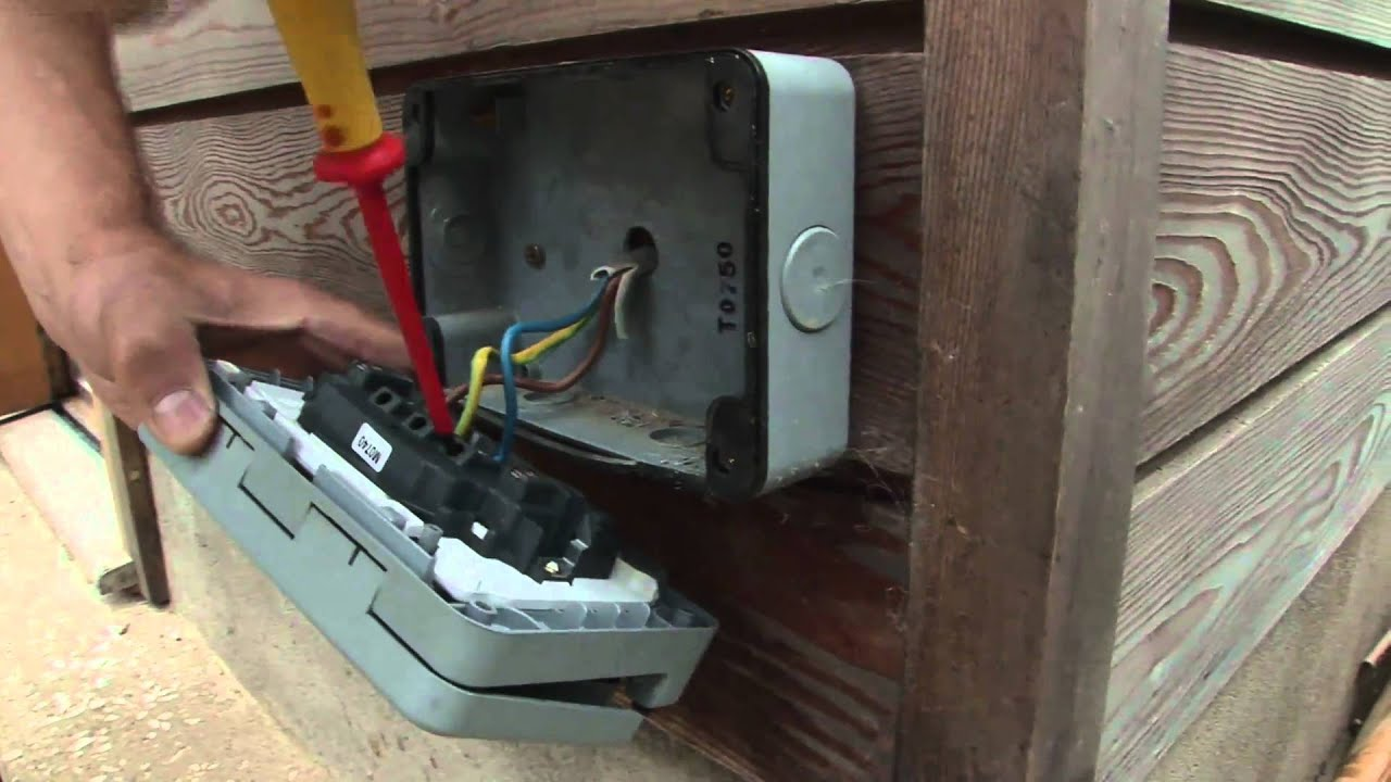 how to work with an outdoor power socket youtube rh youtube com Wall Plug Wiring Electrical Wiring 3 Prong Plug